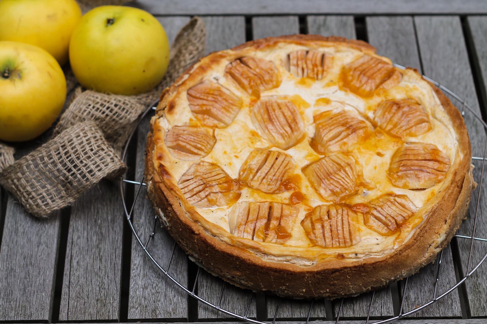 Apfel Schmand Kuchen Kuchentante