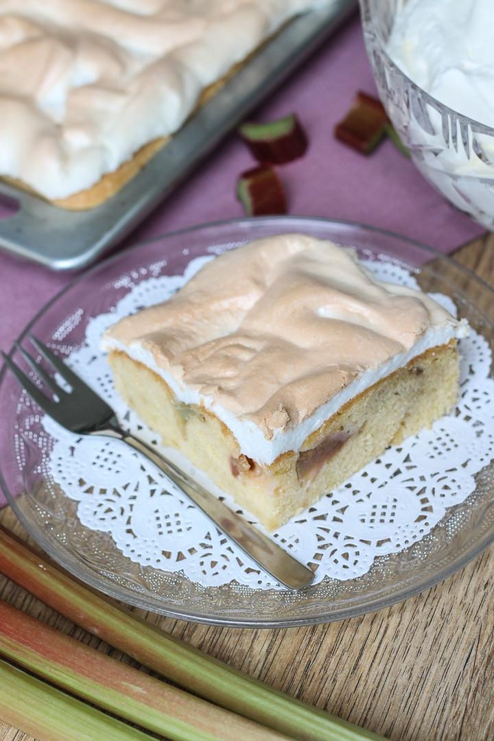 Rhabarber Baiser Kuchen Kuchentante